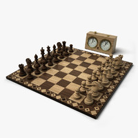 3dsmax chess set 2 hd