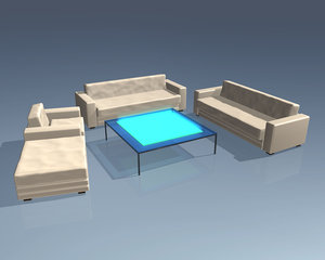 3d couch sofa table