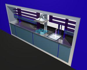 kitchen 3d c4d