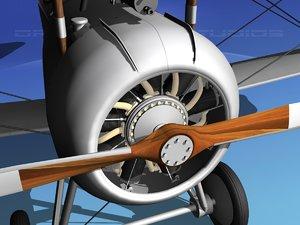 3d high-poly nieuport 17 fighter aircraft model