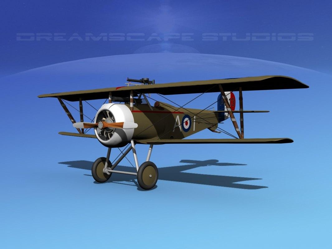 3d nieuport 17 fighter aircraft
