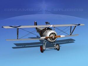 3d model high-poly nieuport 17 fighter aircraft