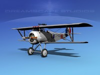 high-poly nieuport 17 fighter aircraft 3d model