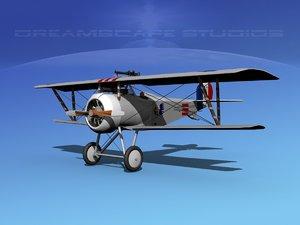 high-poly nieuport 17 fighter aircraft 3d model