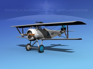 high-poly nieuport 17 fighter aircraft max