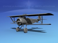 high-poly nieuport vbm 17 3d max