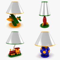 airplane lamp 3d max