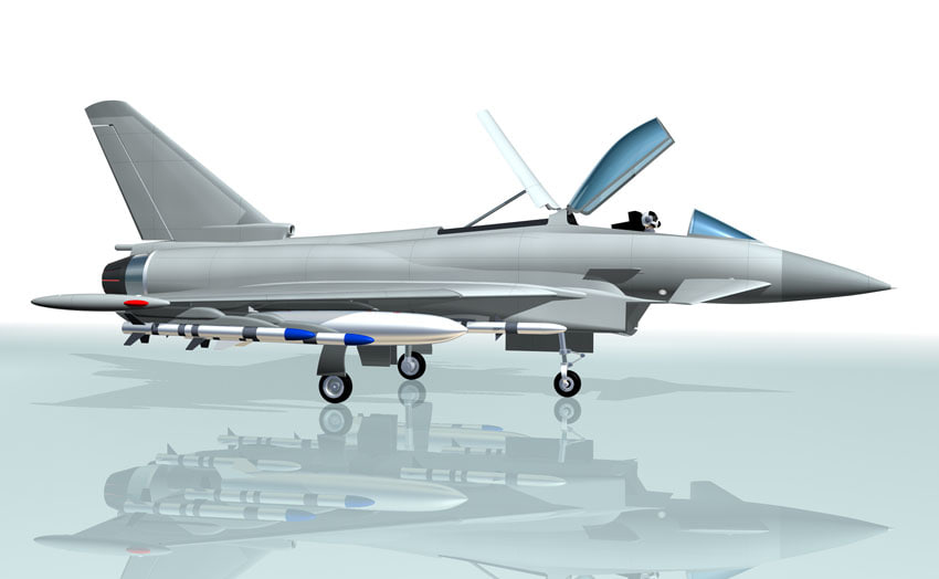 fighter eurofighter 3d model