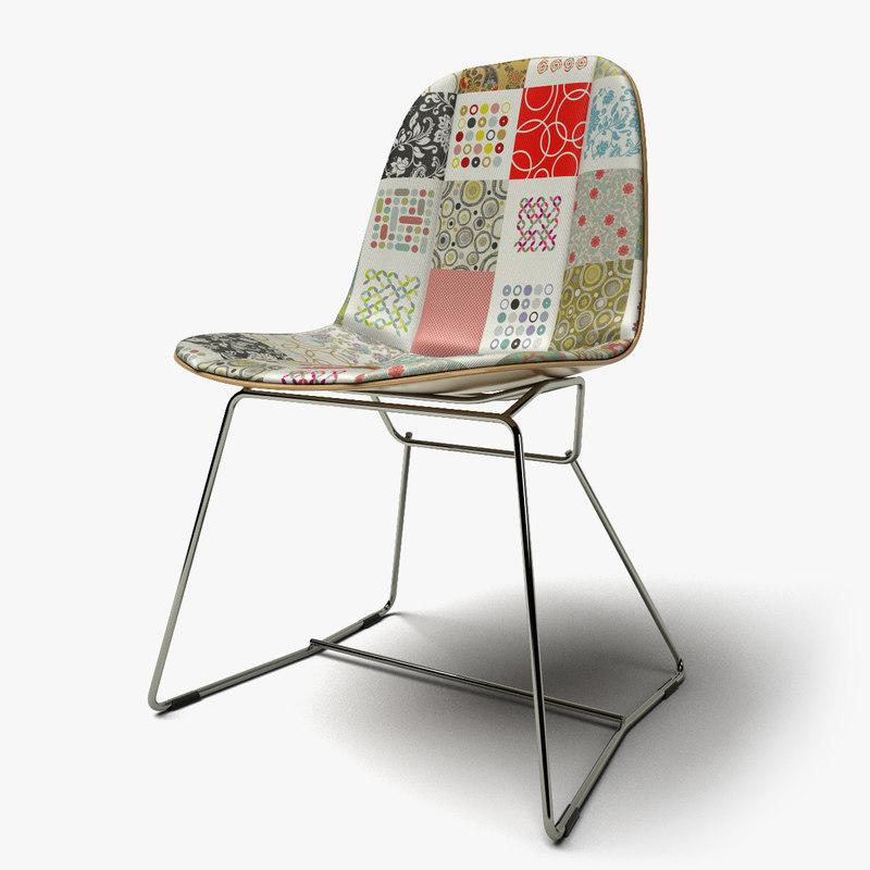 patchwork chair design c4d
