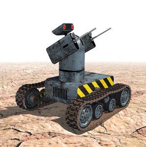 3d model military robot