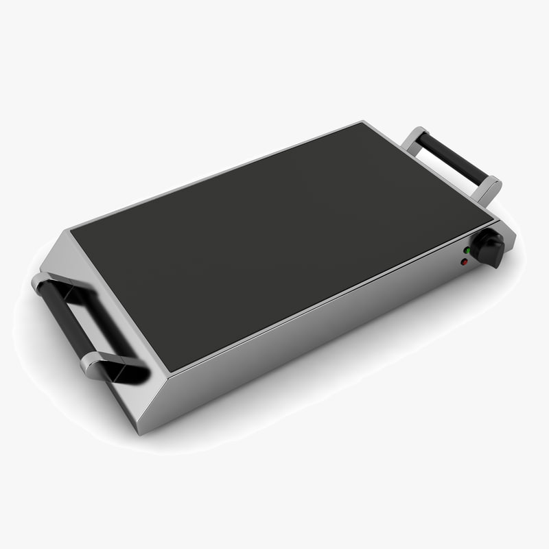 3d model of electric griddle