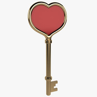 saint valentine key 3d model