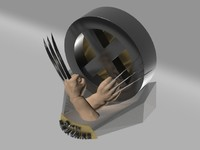 3d wolverine claws model