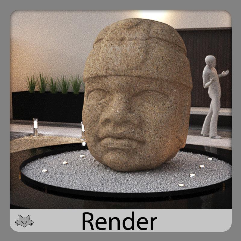 heads olmec 3d model