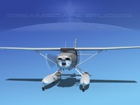3d lwo propeller cessna 182 skylane