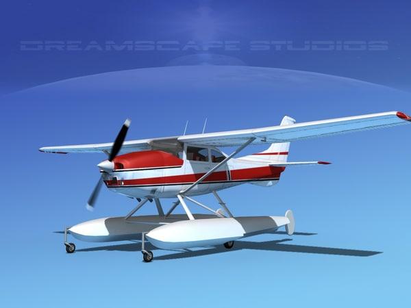 propeller cessna 182 skylane 3d dxf
