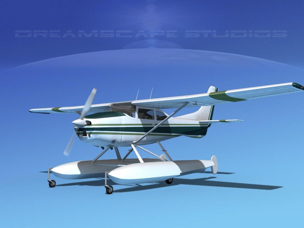propeller cessna 182 skylane 3d lwo