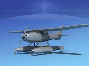 propeller cessna 182 skylane 3d model