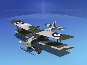 cockpit raf fighter 3d model