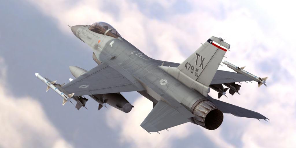 precise f-16 fighting falcon 3d max
