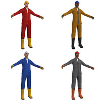 pack worker man 3d max