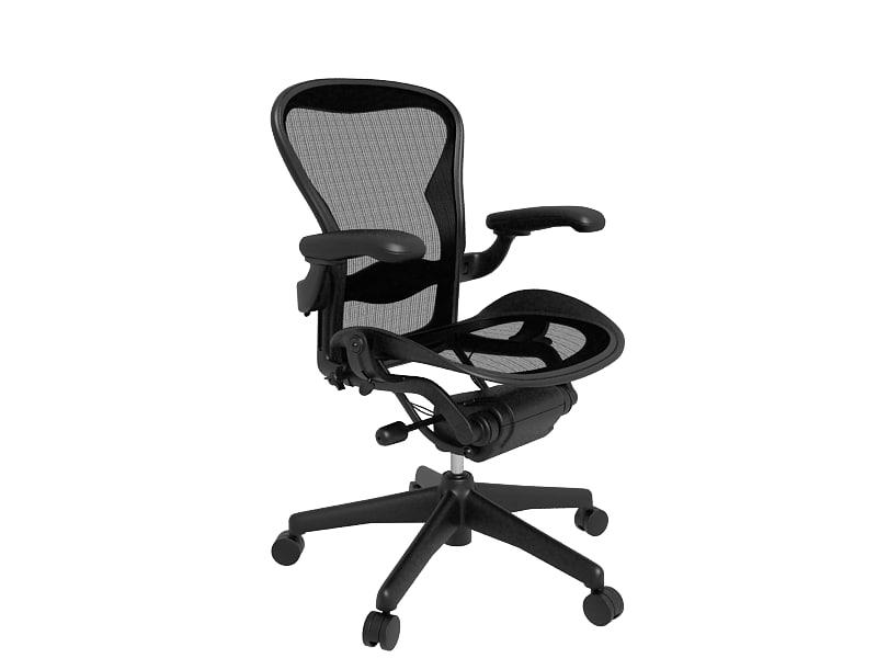 3d max herman miller office chair