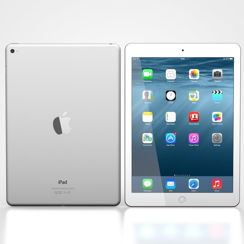 ipad air 2 white 3d 3ds