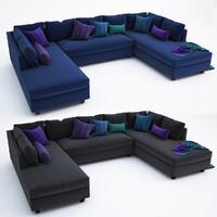 sadie-collection sofa 3d model
