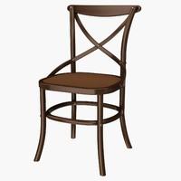 eichholtz chair crossed 3d 3ds