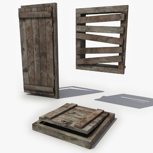 3d medieval floor trap model