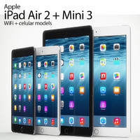 3d model ipad air 2 mini
