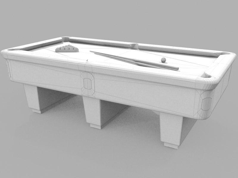 3d billiard table model