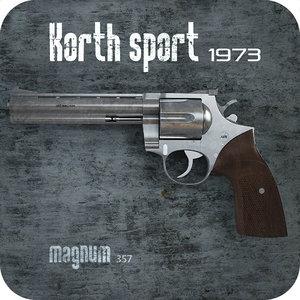 korth magnum 357 3d model