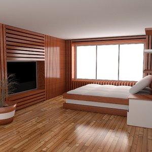 3d bedroom room model