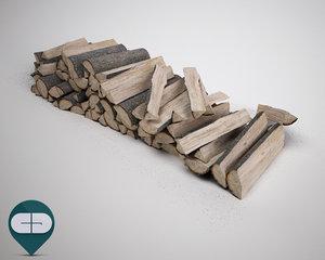 wood snow 3d 3ds