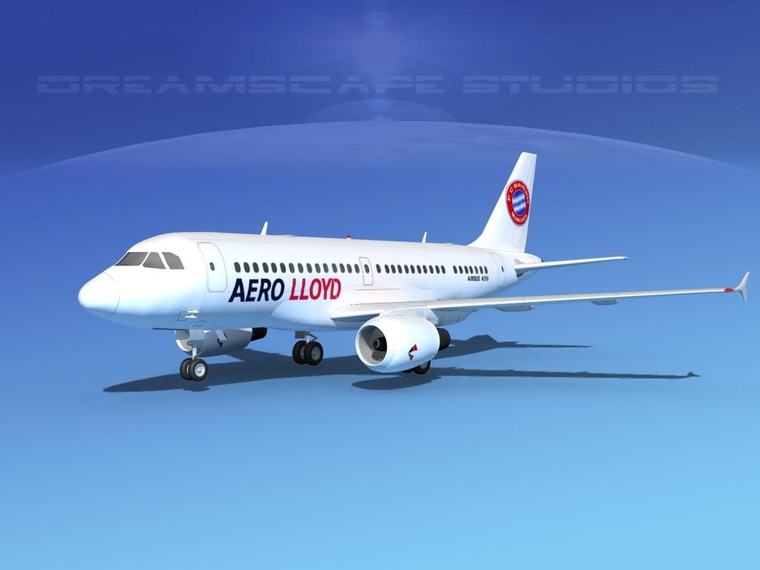 3d airbus a320 a319