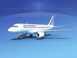 3d scale airbus a319 model