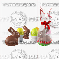 3d model easter composition