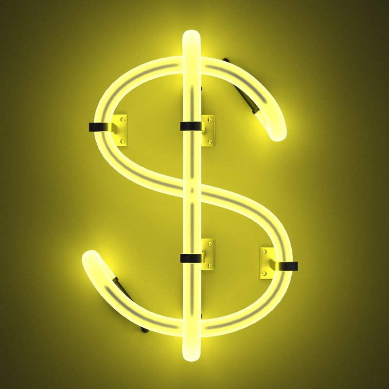 3ds max neon dollar