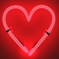 3d neon heart model