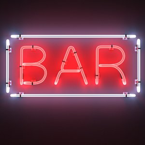 3ds neon sign bar