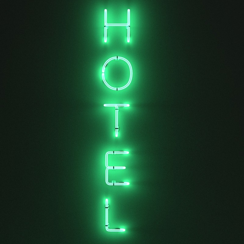3d 3ds hotel sign