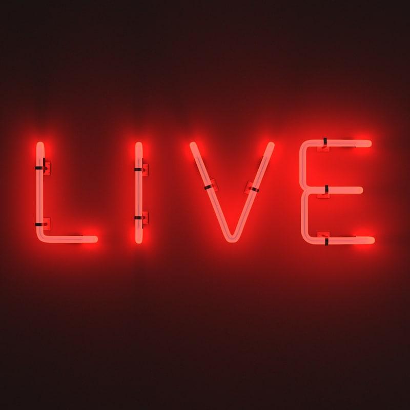 neon sign live 3d 3ds