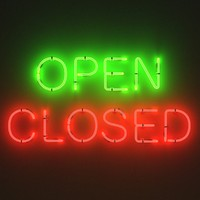 Neon signs - open and closed