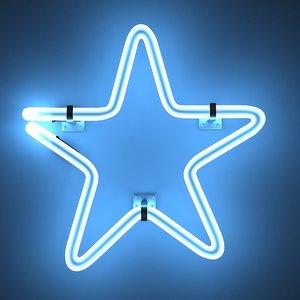 neon star 3d 3ds