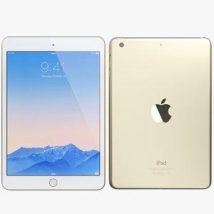 realistic apple ipad mini 3d model