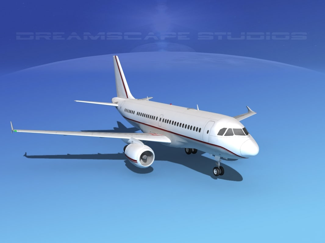scale airbus a319 3d model