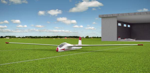3d glider bocian model