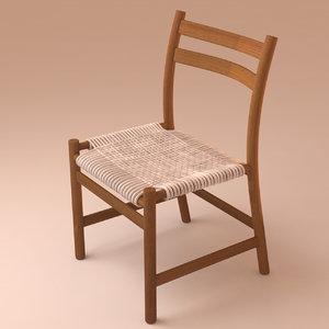 3d model braided deck chair stuhl