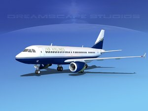 scale airbus a319 airliner 3ds